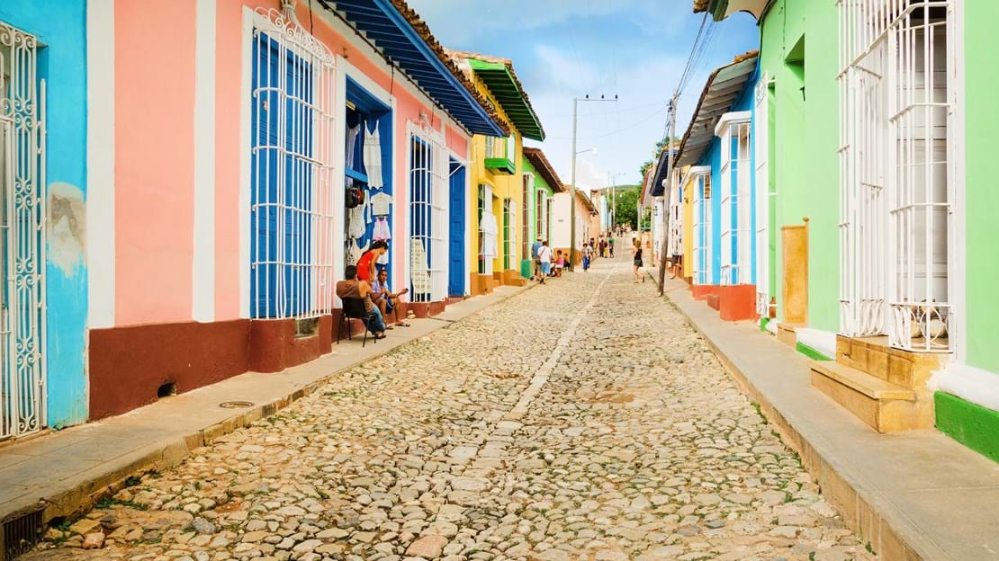 Colorful traditional houses in the colonial town of Trinidad in Cuba.jpg